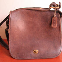 Coach Stewardess Bag Vintage Bonnie Cashin Era Made in Nyc Dk Brown