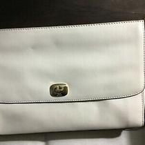 Coach Stone Beige Khaki Clutch Wristlet Leather Handbag Photo