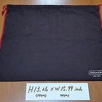 Coach Storage Dust Bags Drawstring h13.26w15.99 Inch Authentic Cotton Cloth Photo