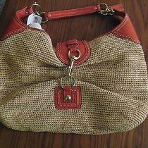 Coach Straw Purse New With Tag Photo