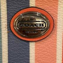 Coach Striped Multi-Color Wristlet Photo