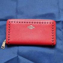 Coach Studded Wallet Red Nwot Msrp 275 Photo