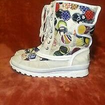 Coach Suede and Fabric Insulated Lace Up Boots Size 8.5 Photo