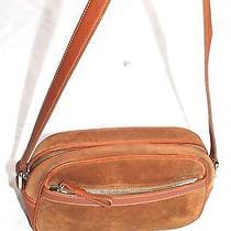 Coach  Suede Brown Leather Purses Vintage Handbag Photo