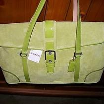 Coach Suede Flip Satchel Suede Nwt Coach Care Kit New Green Photo