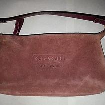 Coach Suede Leather Handbag  Photo