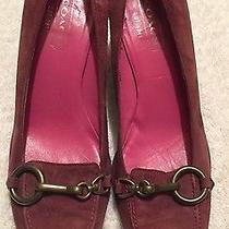 Coach Suede Leather Pumps.  7 Smokey Plum Photo