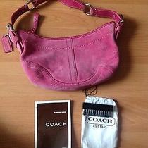 Coach Suede Pink Bag Photo