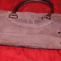 Coach Suede Satchel Handbag Photo