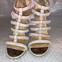 Coach Suede Sz 5.5 Womens Gladiator Strappy Heel Zip Up Shoes Photo