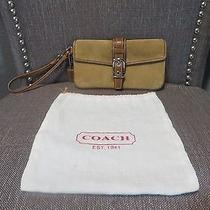 Coach Suede Wristlet Wallet  Photo