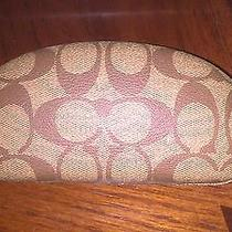 Coach Sun Glasses Casek Brown Fits Large Sun Glasses Photo