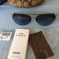 Coach Sunglasses Addison Silver Crystal New With Box Photo