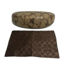 Coach Sunglasses Case Brown and Cleaning Cloth New Photo
