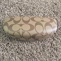 Coach Sunglasses Eye Glasses Case Brown Hard Clamshell Large Case & Cloth Photo