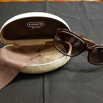 Coach Sunglasses S2002 Brown With Clamshell Case & Cleaning Cloth Photo