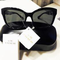 Coach Sunglasses Shiny Black W/grey Gradient Style Whiplash L131 W/hard Case New Photo