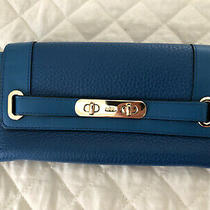 Coach Swagger Wallet - Blue Photo
