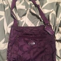 Coach Swing Pack Purple Good Condition Photo