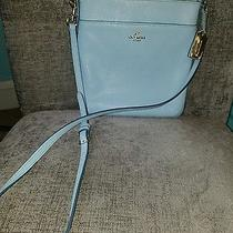 Coach Swingpack Leather Crossbody Bag in Baby Blue Photo