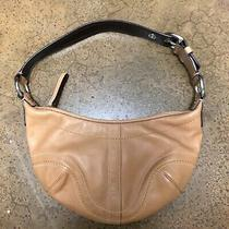 Coach Tan Brown Soho Buckle Leather Ergo Hobo Bag Purse Zip Top Photo