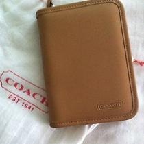 Coach Tan Leather Cell Phone Card Case Photo