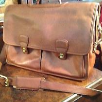 Coach Tan Leather Classic Laptop Tablet Briefcase Shoulder Bag H9s-032 16x12x6