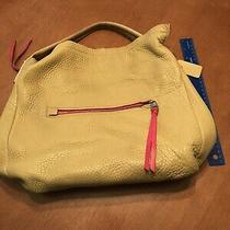 Coach Tan Leather Large Hobo With Pink Accents Photo