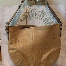Coach Tan Leather Studded Grommett Soho Medium Hobo Tote Bag  No. F0793-F10932 Photo