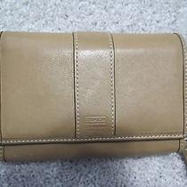 Coach Tan Leather Wallet Photo