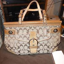 Coach Tan Satchel Limited Edition  6876 Canvas and Suade  Photo