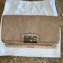 Coach Tan Snakeskin Clutch Photo