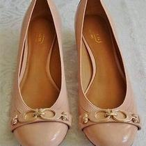 Coach Tandy Patent Leather Pumps Heels Color  Blush   Size 7 1/2 B  W/box Photo