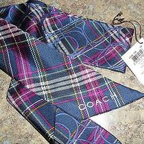 Coach Tartan Plaid Tilly Scarf Nwt Photo