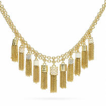 Coach Tassel Bib Necklace Style F96514 Gd/gold Photo