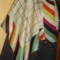 Coach Tattersall Legacy Multi Color Scarf Square 100% Silk-Bleecker-Plaid/stripe Photo