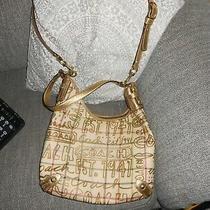 Coach Tattersall Purse Gold Graffiti Hobo  Handbag Large Bought at Coach Miami Photo