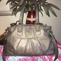 Coach Taupe Leather Shoulder Bag Very Clran Photo