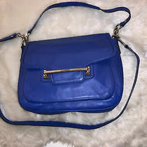 Coach 'Taylor '  Blue Leather Flap Shoulder Cross-Body Purse Bag F27481 Photo