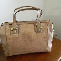 Coach Taylor Exotic Leather Satchel Handbag  F25329 Sand Photo
