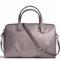 Coach Taylor Leather Satchel F25296 Silver/putty Photo
