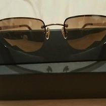 Coach Taylor S320 Rimless Smoke Brown Sunglasses With Gold Metal Frames Photo