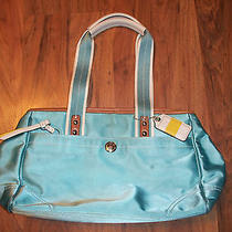 Coach Teal Microfiber Satin Purse Hard to Find Turquoise Photo