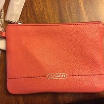Coach Tearose Leather Wristlet --- New With Tags and Box Photo