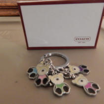 Coach Teddy Bears Key Ring Key Chain With 6 Hangers - New in Box Photo