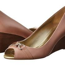 Coach Temple Patent Leather Warm Blush Wedge Heel Women Size 8 Photo