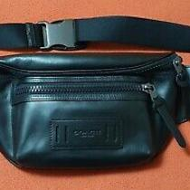 Coach Terrain Belt Bag Crossbody Black Leather Authentic F75776 New W/ Tags Nwt Photo