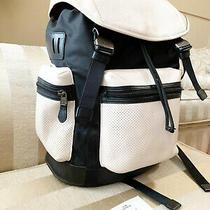 Coach Terrain Trek Pack Perforated Orange Grey Leather Backpack F57477 Msrp 595 Photo
