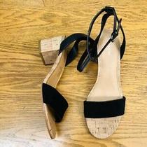 Coach Thompson Ankle Strap Suede/leather Black Heel Shoes Nwob Size 8.5 Photo
