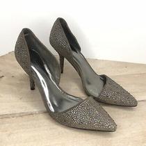 Coach Tibby Suede Warm Blush Stones Heels Pumps Size 8.5 B Photo